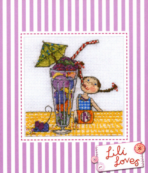 Lili Loves Milkshakes Cross Stitch Kit